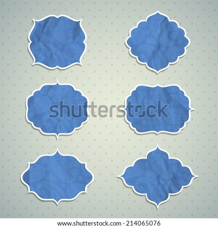 Set of Frame in the Indian style. Vector illustration. Eps10 - stock vector