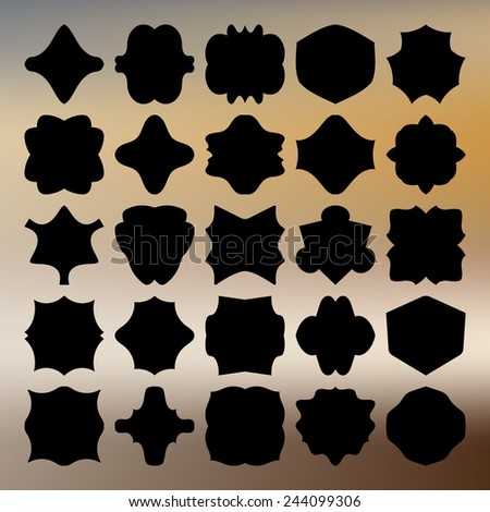 Set of frames and labels, vector. EPS10. - stock vector