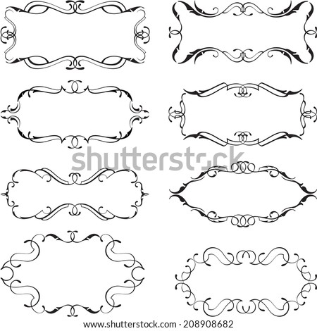 Set of frames isolated on white