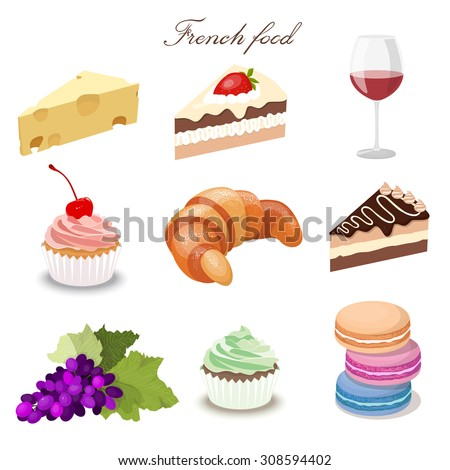 french food drink wine cheese vector shutterstock illustration croissant vectors preview