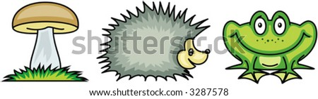 Set of funny vector illustrations - stock vector