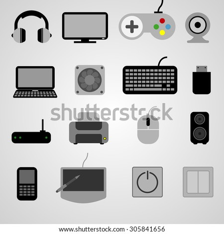 set of gadgets.Vector illustration