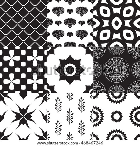 Set of geometric pattern;