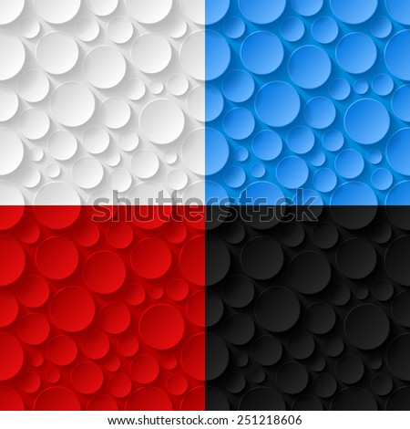 Set of geometric seamless patterns. Vector illustration  - stock vector