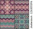 set of geometric textures - stock