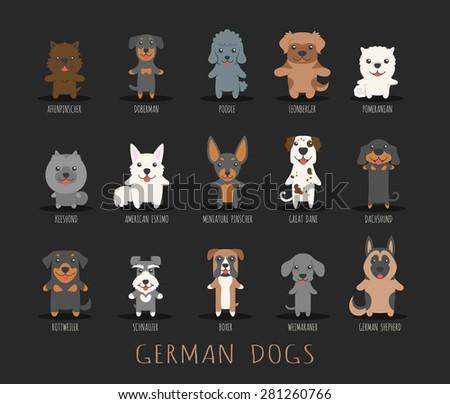 Set of german dogs , eps10 vector format - stock vector