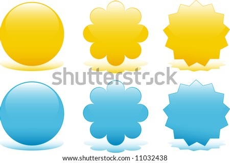 Set of glossy web badges - stock vector