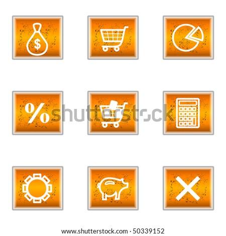 Button chat grunge orange vector stock photos royalty - Chat orange ...
