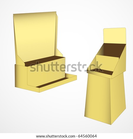 set of 2 gold display. vector illustration - stock vector