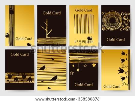 Set Ten Arabic Cards Template Vector Stock Vector 351745133 ...