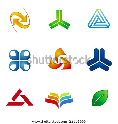 Set of graphic design elements. - stock vector