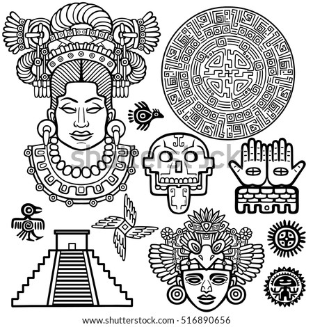 aztec symbols stock images royalty free images vectors. Black Bedroom Furniture Sets. Home Design Ideas