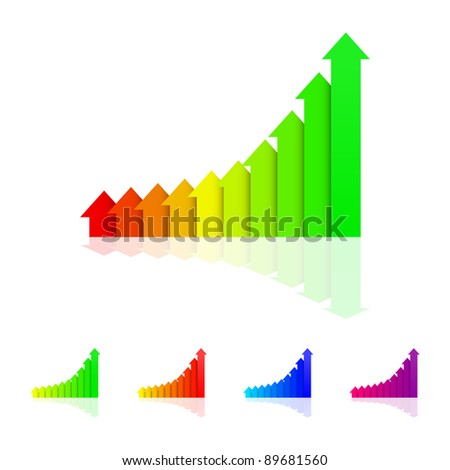 Set of Graphs in EPS 8 format with high resolution JPEG. Easy to edit and change. - stock vector