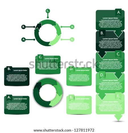 Set of green ecological presentation and reports - stock vector