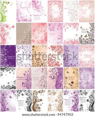 Set of greeting banners - stock vector