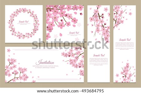 Set greeting cards banners invitation card stock vector 493684795 set greeting cards banners invitation card stock vector 493684795 shutterstock stopboris Image collections