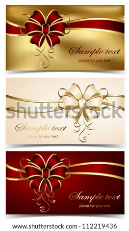 Set of greeting cards, illustration. - stock vector