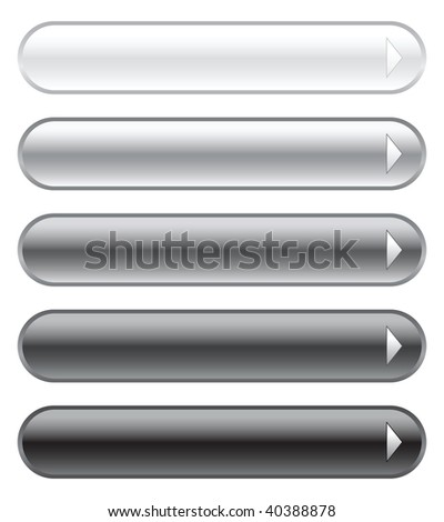 Set of grey vector buttons
