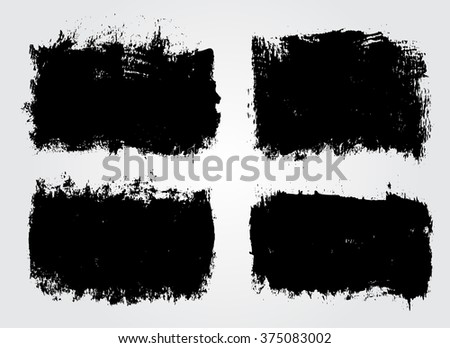 Set of grunge banners. Grunge backgrounds.Abstract vector template. - stock vector