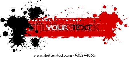 Set of grunge banners.Grunge backgrounds.Abstract vector template - stock vector