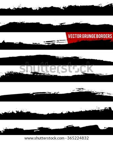 Set of grunge borders. Grunge background, Grunge elements. Design elements. Grunge texture. Abstract shapes - stock vector