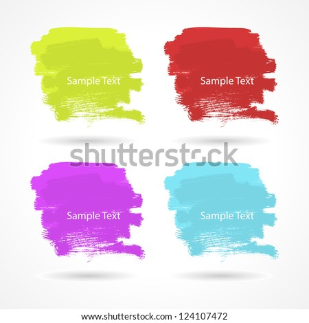 Set of grunge colorful templates. Vector illustration - stock vector