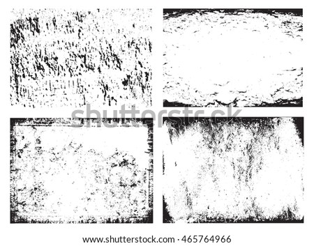 Set of grunge frames.Grunge backgrounds.Abstract vector template.