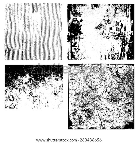 Set of grunge overlay texture for  background design. Vector eps10. - stock vector