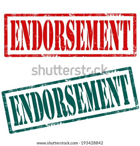 endorsement stock images royalty free images vectors shutterstock