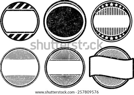 Set of grunge rubber stamps templates