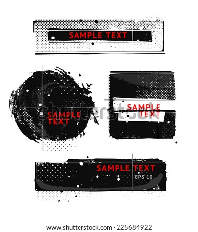 Set of grunge styled banners - stock vector
