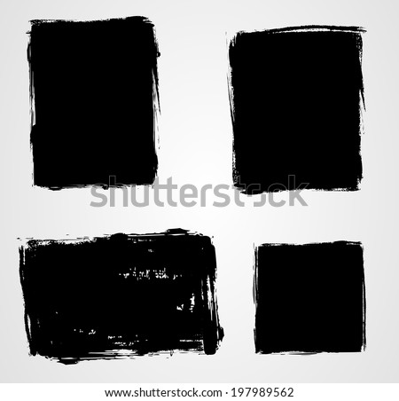 Set of grunge template backgrounds - vertical and horizontal banners - stock vector