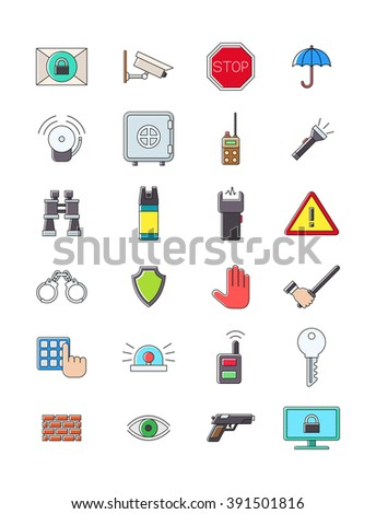 Set of 24 guerd icons