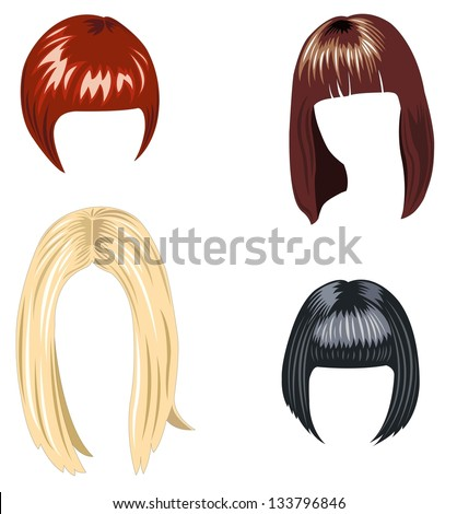 Set of hair styling 2013 - stock vector