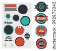 Set of hand-drawn badges - stock vector