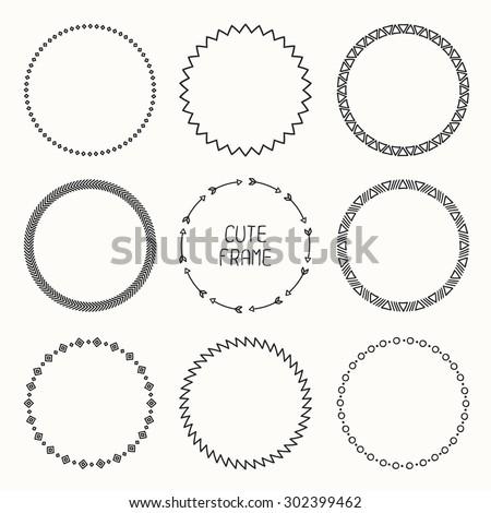 Set Hand Drawn Ethnic Arrows Frame Stock Vector 302399462 Shutterstock