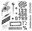 set of hand-drawn graphic elements - stock vector