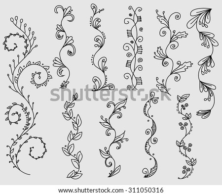Vine Border Stock Images Royalty Free Images Amp Vectors