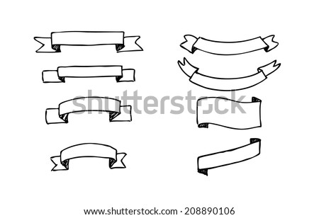 Black And White Banner Vector Black And White Stock Vector