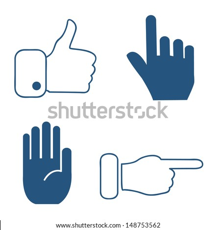 Set of hand icons