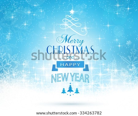 Set of hanging Christmas ornaments like bauble, santa hat, reindeer, angel, heart, present and tree on beige golden background. The bottom and top borders of snow and Christmas symbols are seamless.  - stock vector