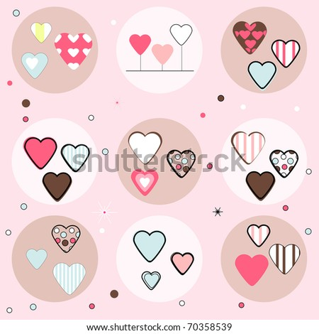 Set of Hearts, Vector