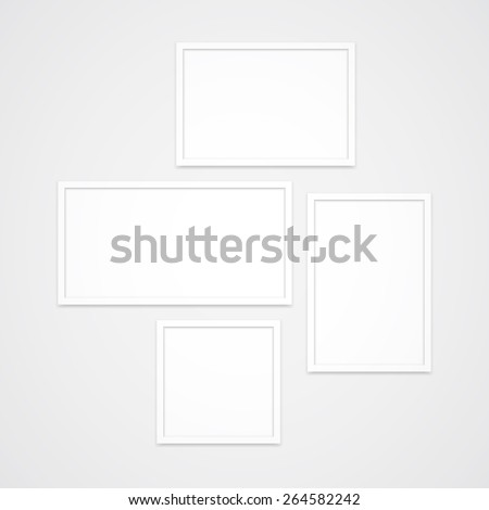 Set High Quality Clean White Vector Stock Vector 264582242 ...