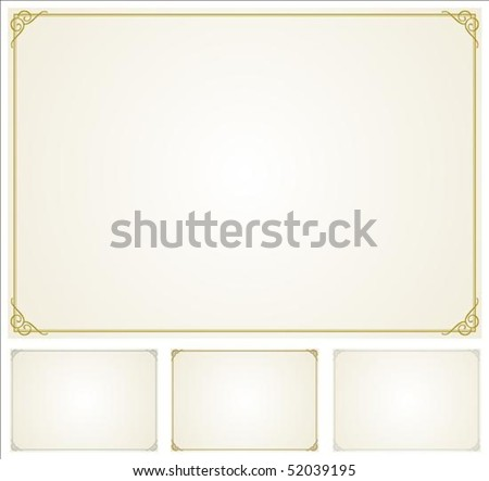 Set of highly detailed vector frames. Easy to edit. - stock vector