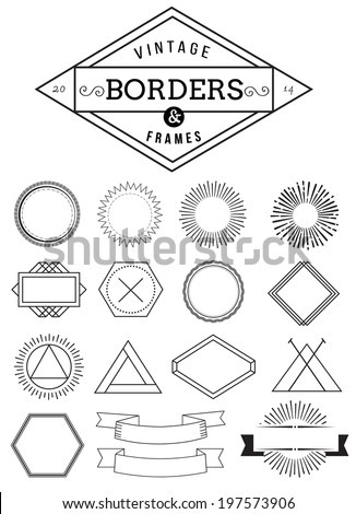 Set of hipster vintage retro labels - stock vector