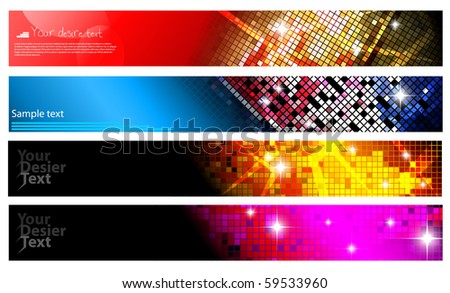 Set of horizontal banners | party collection. Vector illustration.