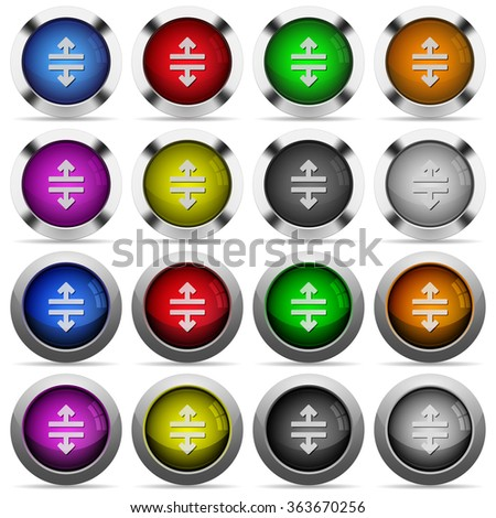 Set of Horizontal split glossy web buttons. Arranged layer structure. - stock vector