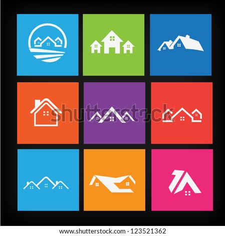 Set of house icons 2 - stock vector
