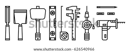 Woodworking Tools Icons
