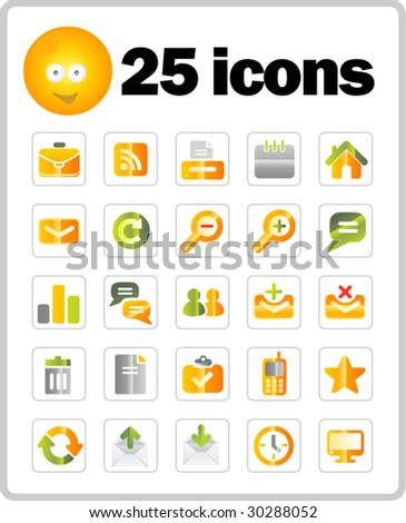 Set of 25 icons